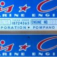 Blue & Red CC Engine Plates shown with engraved numbers