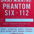 Reproduction Gray Marine Phantom Six-112 tag