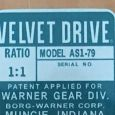 AS1-79 Reproduction Velvet Drive Tag